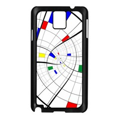 Swirl Grid With Colors Red Blue Green Yellow Spiral Samsung Galaxy Note 3 N9005 Case (black) by designworld65