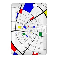 Swirl Grid With Colors Red Blue Green Yellow Spiral Kindle Fire Hdx 8 9  Hardshell Case by designworld65