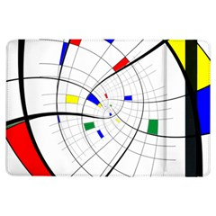 Swirl Grid With Colors Red Blue Green Yellow Spiral Ipad Air Flip by designworld65