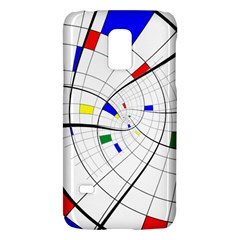 Swirl Grid With Colors Red Blue Green Yellow Spiral Galaxy S5 Mini by designworld65