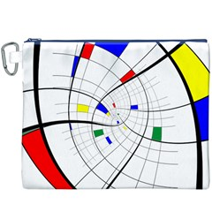 Swirl Grid With Colors Red Blue Green Yellow Spiral Canvas Cosmetic Bag (xxxl) by designworld65