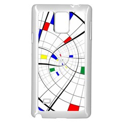 Swirl Grid With Colors Red Blue Green Yellow Spiral Samsung Galaxy Note 4 Case (white) by designworld65