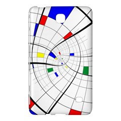 Swirl Grid With Colors Red Blue Green Yellow Spiral Samsung Galaxy Tab 4 (7 ) Hardshell Case  by designworld65