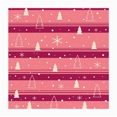 Pink Xmas Medium Glasses Cloth by Valentinaart
