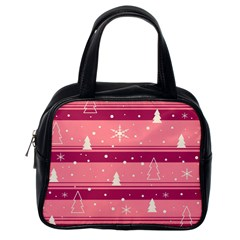 Pink Xmas Classic Handbags (one Side) by Valentinaart