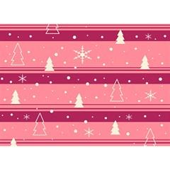 Pink Xmas Birthday Cake 3D Greeting Card (7x5) by Valentinaart