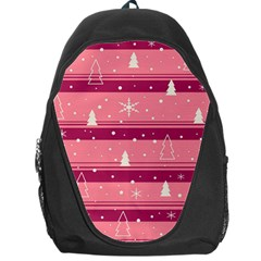 Pink Xmas Backpack Bag by Valentinaart