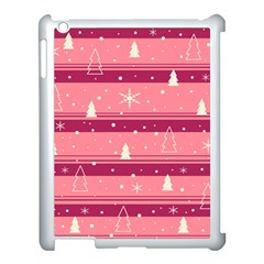 Pink Xmas Apple Ipad 3/4 Case (white) by Valentinaart