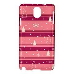 Pink Xmas Samsung Galaxy Note 3 N9005 Hardshell Case by Valentinaart