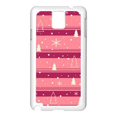Pink Xmas Samsung Galaxy Note 3 N9005 Case (white) by Valentinaart