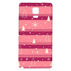 Pink Xmas Galaxy Note 4 Back Case by Valentinaart