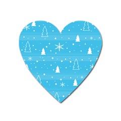Blue Xmas Heart Magnet by Valentinaart