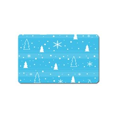 Blue Xmas Magnet (name Card) by Valentinaart