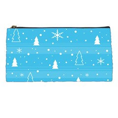 Blue Xmas Pencil Cases by Valentinaart