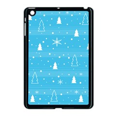 Blue Xmas Apple Ipad Mini Case (black) by Valentinaart