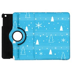 Blue Xmas Apple Ipad Mini Flip 360 Case by Valentinaart