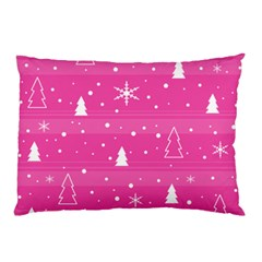 Magenta Xmas Pillow Case (two Sides) by Valentinaart