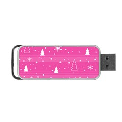 Magenta Xmas Portable Usb Flash (two Sides) by Valentinaart