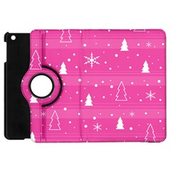 Magenta Xmas Apple Ipad Mini Flip 360 Case by Valentinaart