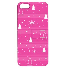 Magenta Xmas Apple Iphone 5 Hardshell Case With Stand by Valentinaart