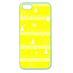 Yellow Xmas Apple Seamless Iphone 5 Case (color) by Valentinaart