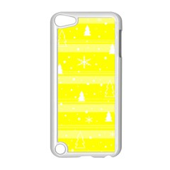 Yellow Xmas Apple Ipod Touch 5 Case (white) by Valentinaart