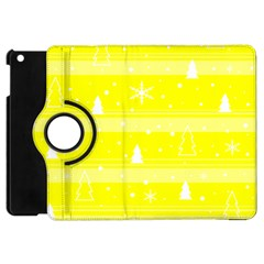 Yellow Xmas Apple Ipad Mini Flip 360 Case by Valentinaart