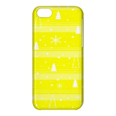 Yellow Xmas Apple Iphone 5c Hardshell Case by Valentinaart