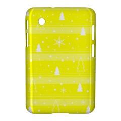 Yellow Xmas Samsung Galaxy Tab 2 (7 ) P3100 Hardshell Case  by Valentinaart
