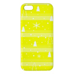 Yellow Xmas Iphone 5s/ Se Premium Hardshell Case by Valentinaart