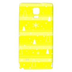Yellow Xmas Galaxy Note 4 Back Case by Valentinaart