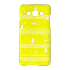 Yellow Xmas Samsung Galaxy A5 Hardshell Case  by Valentinaart