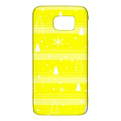 Yellow Xmas Galaxy S6 by Valentinaart