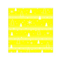 Yellow Xmas Small Satin Scarf (square) by Valentinaart