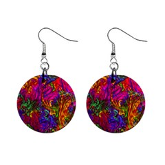 Hot Liquid Abstract B  Mini Button Earrings by MoreColorsinLife