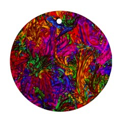Hot Liquid Abstract B  Round Ornament (two Sides)  by MoreColorsinLife