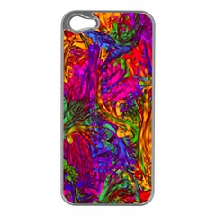 Hot Liquid Abstract B  Apple Iphone 5 Case (silver) by MoreColorsinLife