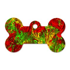 Hot Liquid Abstract C Dog Tag Bone (one Side) by MoreColorsinLife
