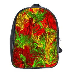 Hot Liquid Abstract C School Bags (xl)  by MoreColorsinLife