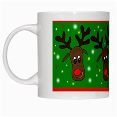 Reindeer Pattern White Mugs by Valentinaart