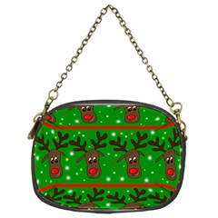 Reindeer Pattern Chain Purses (two Sides)