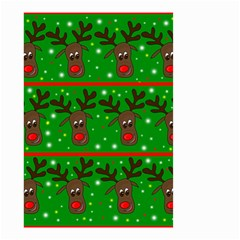 Reindeer Pattern Small Garden Flag (two Sides) by Valentinaart