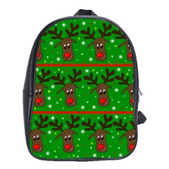 Reindeer Pattern School Bags (xl)  by Valentinaart