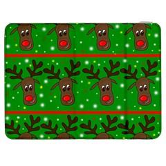 Reindeer Pattern Samsung Galaxy Tab 7  P1000 Flip Case by Valentinaart