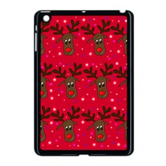 Reindeer Xmas Pattern Apple Ipad Mini Case (black) by Valentinaart