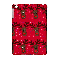 Reindeer Xmas Pattern Apple Ipad Mini Hardshell Case (compatible With Smart Cover) by Valentinaart
