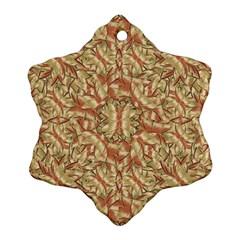 Geometric Bold Cubism Pattern Snowflake Ornament (2 Side) by dflcprints
