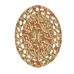 Geometric Bold Cubism Pattern Oval Filigree Ornament (2 Side)  by dflcprints