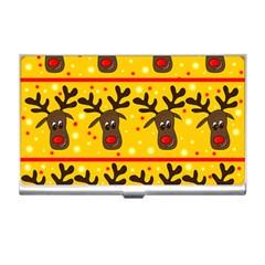 Christmas Reindeer Pattern Business Card Holders by Valentinaart