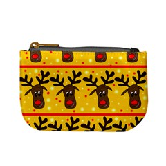 Christmas Reindeer Pattern Mini Coin Purses by Valentinaart